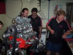 Blown small block chev built with MIA engine services